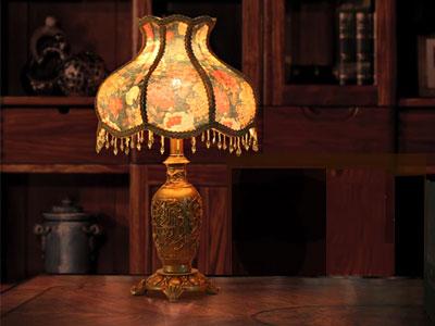 تصویری از یک آباژور سلطنتی که می تواند نقش مهمی در طراحی دکوراسیون داخلی منزل ایفا کند