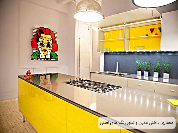 رنگ های اصلی در معماری داخلی مدرن یک منزل مورد استفاده قرار گرفته.
