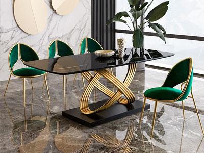 میز ناهارخوری مدرن در فضای خانه با طرح بسیار زیبا
