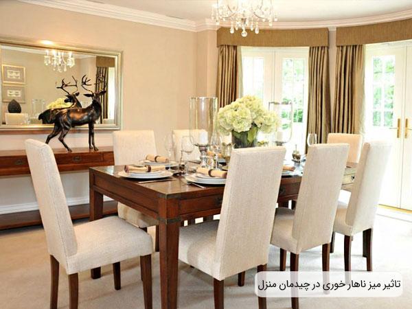 تاثیر بسزای میز ناهار خوری در چیدمان و دکوراسیون فضای منزل