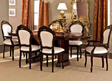 تصویری از یک میز ناهار خوری کلاسیک در چیدمان فضای داخلی منزل