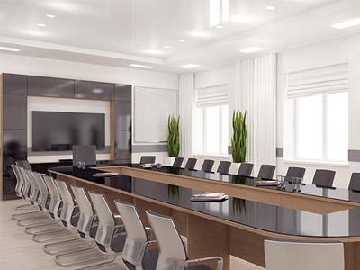 سالن مخصوص برگزاري کنفرانس که داراي يک ميز جلسه بزرگ به همراه چند صندلي کنفرانس مي باشد و در مقابل ميز يک تلويزيون بزرگ قرار گرفته است