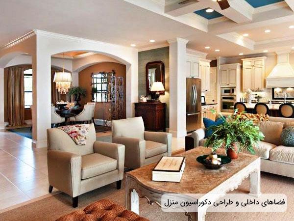 تاثیر شناخت فضاهای داخل منزل بر طراحی دکوراسیون داخلی منزل