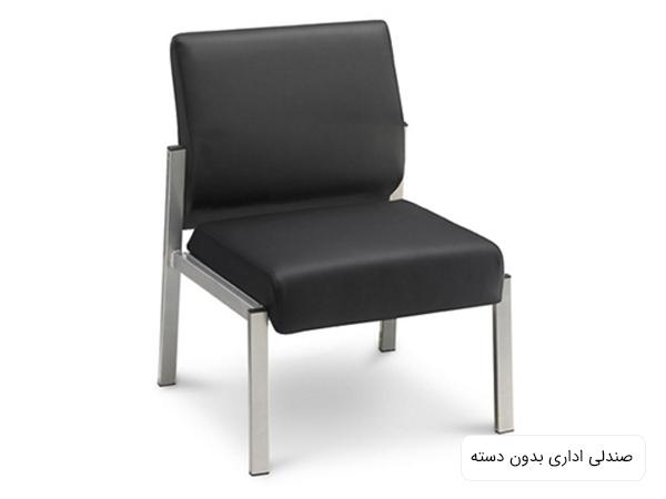 يک عدد صندلي مشکي رنگ بدون دسته مناسب محيط هاي اداري در پس زمينه سفيد