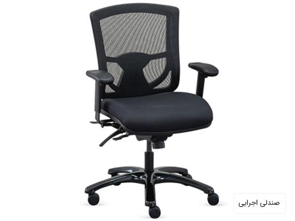 يک عدد صندلي اپراتور چرخ دار به رنگ مشکي در پس زمينه سفيد