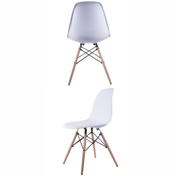 صندلی ميز ناهار خوری کروماتيک 005 از دو زاويه مختلف در پس زمينه سفيد.