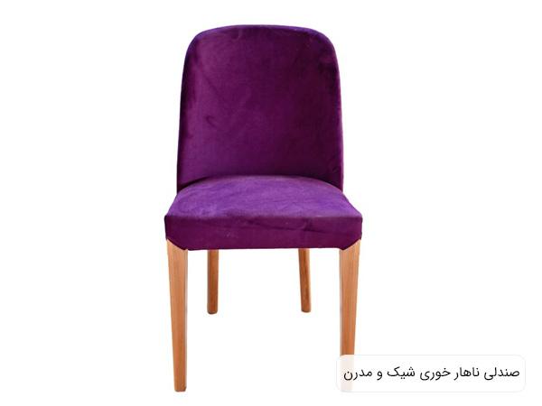 صندلی ناهار خوری مدل RS 1002 به رنگ بنفش در پس زمينه سفيد