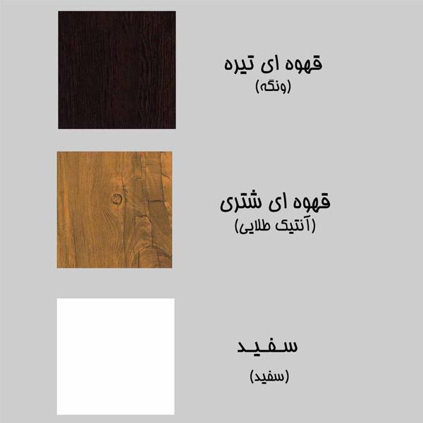 کاتالوگ رنگ های تخت خواب مدرن سنو وان که شامل رنگ قهوه ای تيره ، قهوه ای شتری و سفيد می باشد در پس زمينه خاکستری .