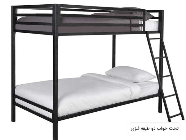 تخت خواب شيک دورما با طراحی مدرن و ساده در پس زمينه سفيد.